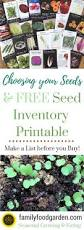 choosing your seeds free seed inventory printable