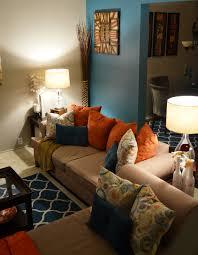 orange and brown living room decor living room brown orange living