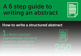 how to write an abstract part 1