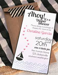themed invitations ahoy a nautical themed baby shower with free printable invitation