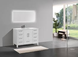 Gloss White Modern Bathroom Vanity - Bathroom vanities with quartz countertops