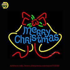 Neon Christmas Window Decorations by Neon Sign Merry Christmas Light Decoration Glass Tube