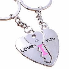 love key rings images Hot sale love key rings for lover silver heart pendant romantic jpg