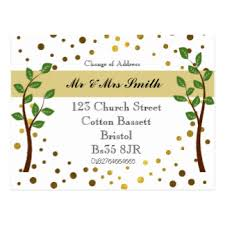 elegant change of address postcards zazzle