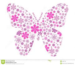 vector butterfly with flower texture royalty free stock image