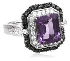 black and purple engagement rings mojo tension set black two toned black titanium titanium