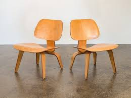 charles and ray eames eames lcw lounge chairs for herman miller