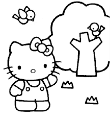 kitty coloring pages 7