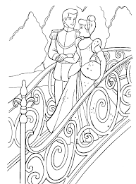 cinderella printable coloring pages prince u0026 cinderella kiss