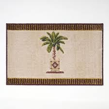 Palm Tree Bathroom Rug Shop Avanti Banana Palm 20 In X 30 In Linen Bath Rug At