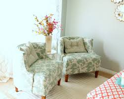 chair covers white and blue combination accent chairs for living