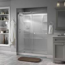 Bypass Shower Door Bypass Sliding Shower Doors Showers The Home Depot
