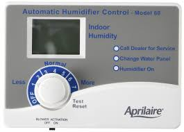 aprilaire 60 humidistat with blower activation electrical outlet