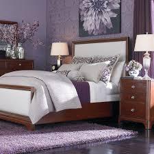Iron Platform Bed Night Lamp On Nightstand Plus White Dresser Light Purple Bedroom