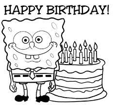 happy birthday sponge bob cake coloring color luna