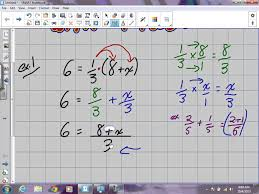 solving equations involving fractions grade 9 academic lesson 4 3