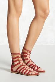 faux suede gladiator sandals forever 21 2000268344