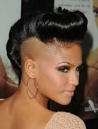 womens hair with shaved sides and long top beautiful shaved