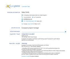 curriculum vitae formato europeo pdf da compilare online home europass