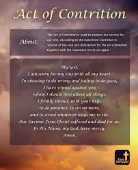 the act of contrition infographic catholic prayer face