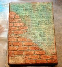 technique gesso brick technique 1 mist base area with a golden