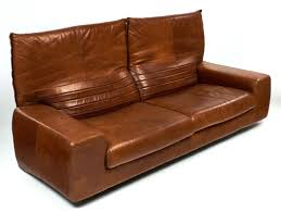 Foldable Loveseat Vintage Italian Leather Sofa With Foldable Back Jean Marc Fray
