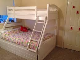 White Wooden Triple Bunk Bed Double And Single Sweet Dreams - Dreams bunk beds