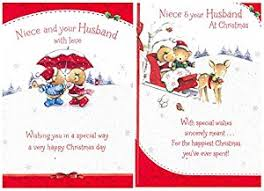 merry to niece husband greeting card words
