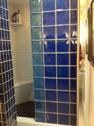 Shower Partitions Colored Glass Block Shower U0026 Partition Walls In A Condo Remodeling