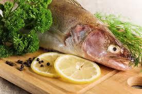 cuisiner un sandre sandre sur un panneau de cuisine image stock image du sain