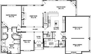 top 23 photos ideas for 4 bedroom floor plans one story house