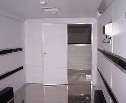 Cargo Trailer With Bathroom Partition Wall With Door Enclosed Cargo Trailer