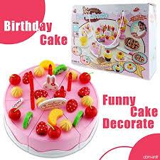 jeux de cuisine de gateaux d anniversaire shayson 75pcs cuisine en plastique couper jouet gâteau jeux manger