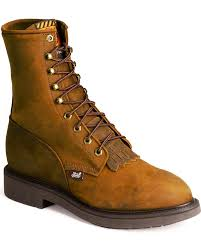 s boots justin justin s 8 lace up steel toe work boots boot barn