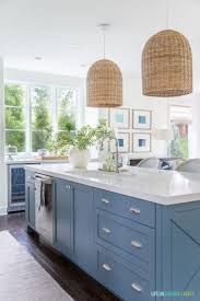 what paint color goes best with gray kitchen cabinets the best blue gray paint colors on virginia