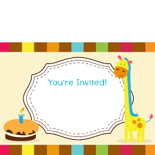 sample blank invitation for kid birthday wikihow