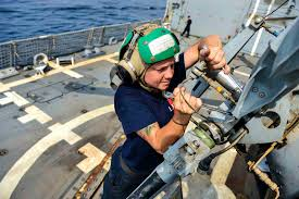 u s navy petty officer 3rd class kelli milakovich works on the