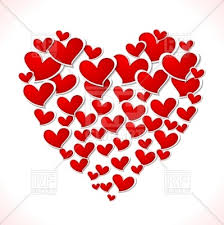 big valentines day big heart of hearts day vector clipart image