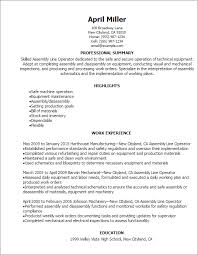 Resume For Forklift Operator Professional Assembly Line Operator Resume Templates To Showcase