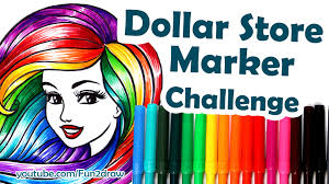 Colour Color How To Colour Color With 1 25 Dollar Store Markers Challenge