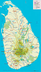 Physical Map Of Australia Administrative And Physical Map Of Sri Lanka Sri Lanka