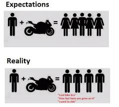 Funny Motorcycle Meme - owning a motorcycle expectations vs reality funny dank memes gag
