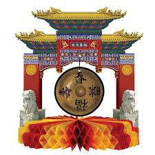 New Year Decorations Amazon by Amazon Com Asian Gong Centerpiece Childrens Party Table