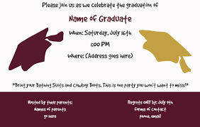 graduation announcements template graduation party invites party invitations templates