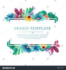 banner design template floral decoration rectangular stock vector
