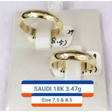 saudi gold wedding ring saudi gold 18k wedding ring 3 47g lazada ph