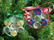 More Recyled Christmas Tree Ornaments, sweet gum star and bottle ...