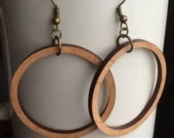 hoop earrings wood hoop earrings cherry laser cut earrings joanna gaines