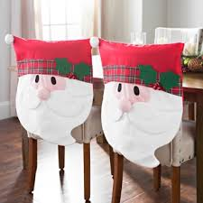 christmas chair covers plaid santa christmas chair covers set of 2 kirklands
