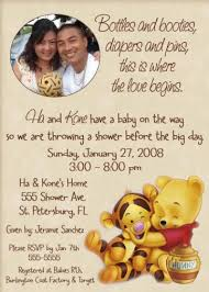 winnie the pooh baby shower invitations winnie the pooh baby shower invitation ultrasound photo